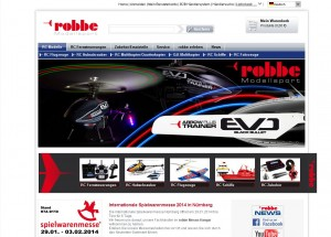 Website der Fa. Robbe Modellsport (screenshot)